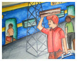 Students Work, Painting Courses in Delhi,Tanjore Paintings courses in India